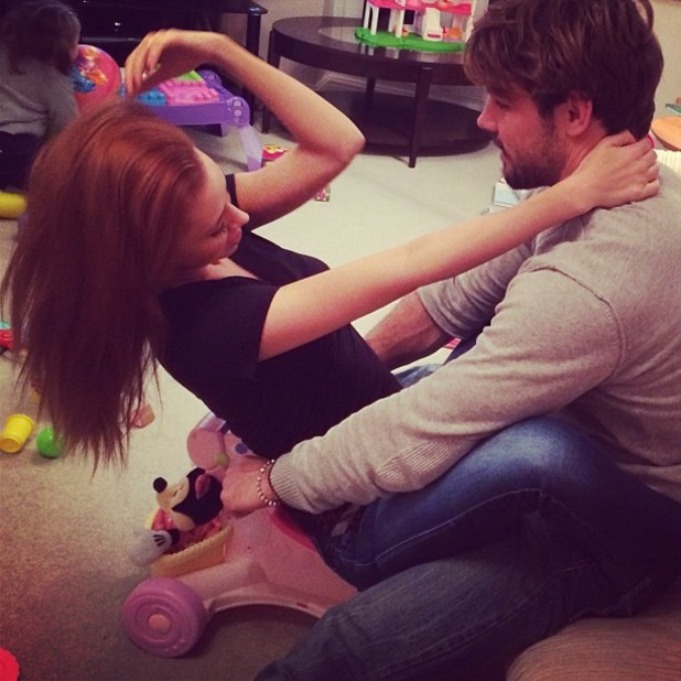 Una and Ben Foden recreate Kanye West's 'Bound 2' video.