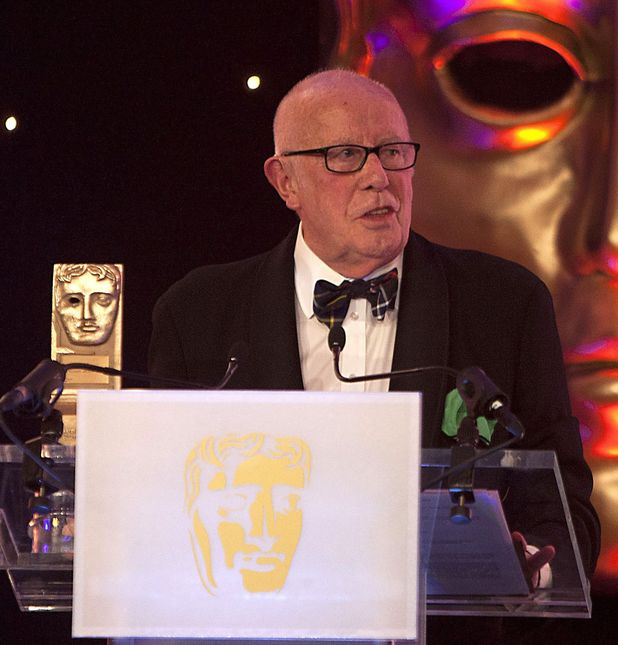 Richard Wilson accepting the Outstanding Contribution to Television and Film Award at the BAFTA Scotland Awards 2013