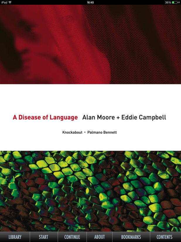 Alan Moore and Eddie Campbell's 'A Disease of Language'