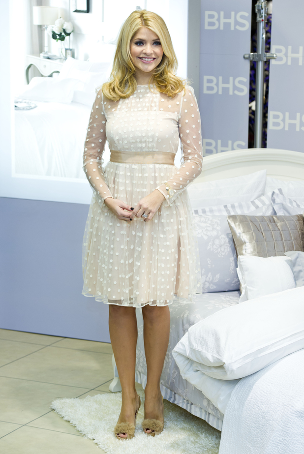 Holly Willoughby launches her 'For The Home' collection at BHS in Oxford Street, London.