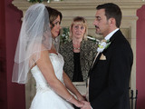 Carla and Peter prepare to take their vows.