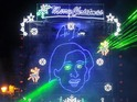 Alan Partridge's face is used in Norwich's Christmas lights display.