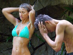 'I'm A Celebrity Get Me Out Of Here' TV Programme, Australia - 21 Nov 2013 Amy Willerton and Joey Essex shower together 21 Nov 2013