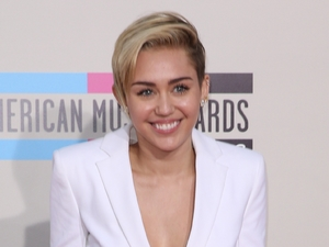 Miley Cyrus at the American Music Awards at the Nokia Theatre L.A. Live on Sunday, Nov. 24, 2013, in Los Angeles