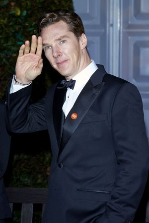 Winter Whites Centrepoint Gala, Kensington Palace, London, Britain - 26 Nov 2013 Benedict Cumberbatch