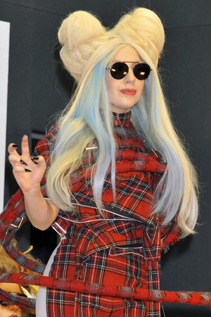 Lady Gaga attends a press conference for her new album 'Artpop' at Roppongi Academy Hills