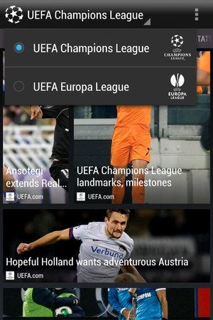 HTC FootballFeed app