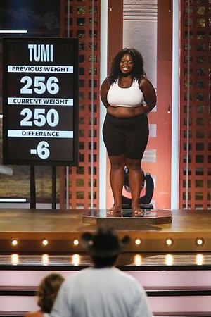 Tumi's weigh-in during The Biggest Loser S15E06