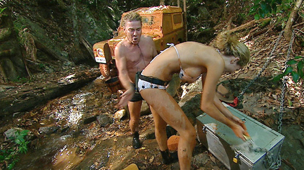 'I'm A Celebrity Get Me Out Of Here' TV Programme, Australia - 01 Dec 2008 David Van Day and Nicola McLean - Celebrity Chest Challenge - 'Car Wash' 1 Dec 2008