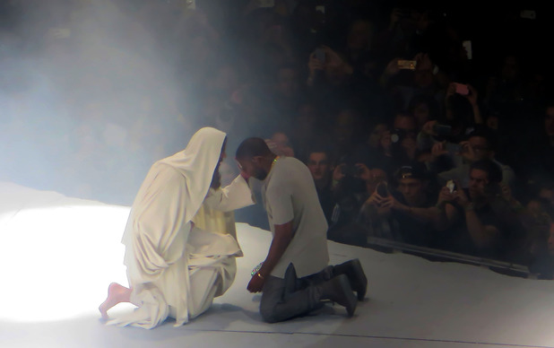 Kanye West performs to a sold-out crowd at Madison Square Garden as part of..