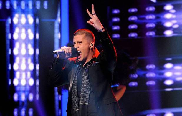 Carlito Olivero performs during The X Factor USA Big Band week