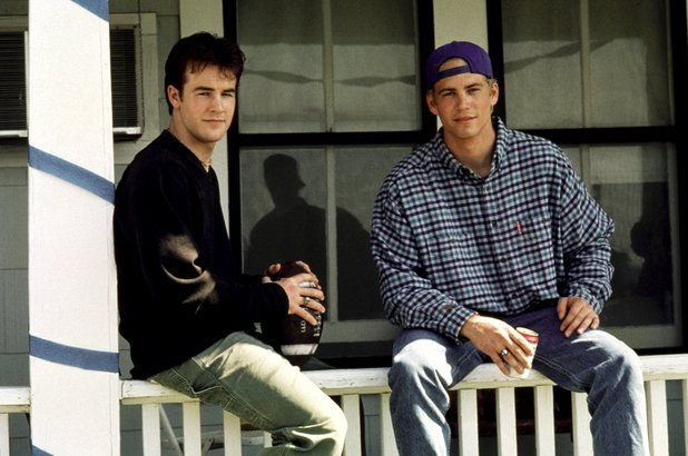 Paul Walker and James van der Beek in Varsity Blues
