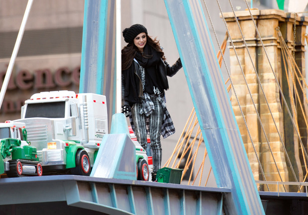 Cher Lloyd at the 87th annual Macy's Thanksgiving Day parade on November 28, 2013 in New York City