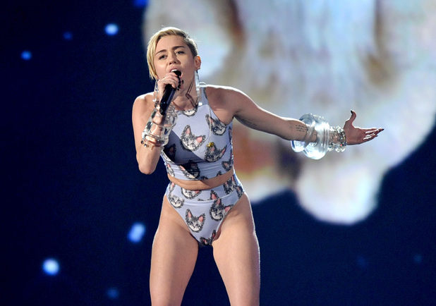 Miley Cyrus performs at the American Music Awards