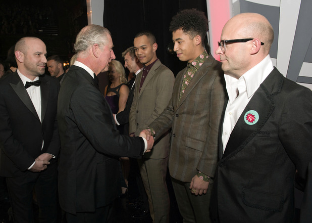 Prince Charles, Rizzle Kicks, Harry Hill at the Royal Variety Performance, at the London Palladium, in central London.