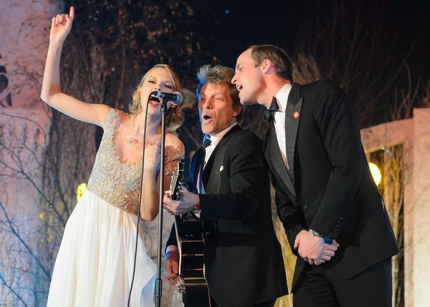 Prince William performs with Taylor Swift, Jon Bon Jovi