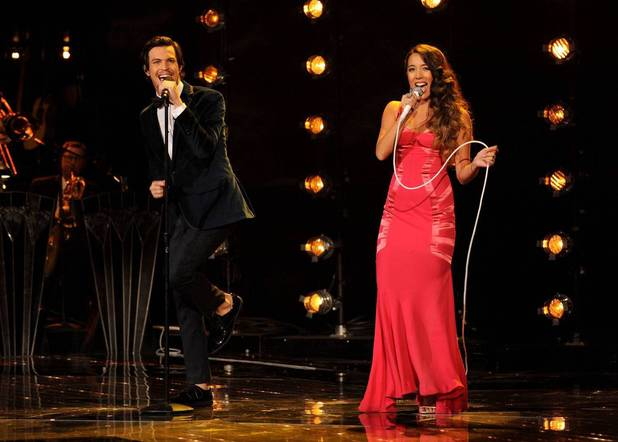 Alex and Sierra performs during The X Factor USA Big Band week