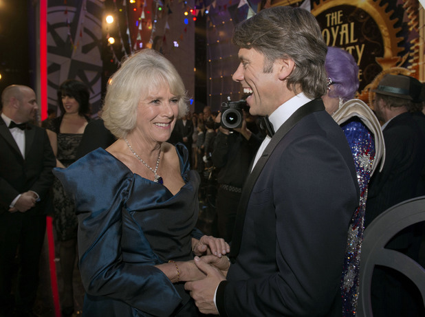 Duchess of Cornwall, John Bishop at the Royal Variety Performance, at the London Palladium, in central London.