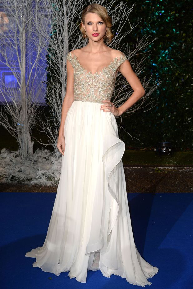 Winter Whites Centrepoint Gala, Kensington Palace, London, Britain - 26 Nov 2013 Taylor Swift