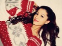 Ariana Grande 'Christmas Kisses' press shot.