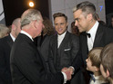 The stars meet Prince Charles at the 2013 Royal Variety Performance.