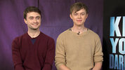 'Kill Your Darlings' stars Daniel Radcliffe and Dane DeHaan tell Digital Spy that their screen kiss is the most memorable of the year.