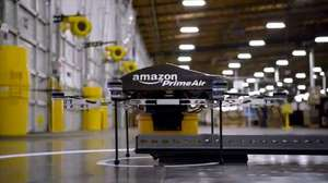 Amazon flying drones delivery service