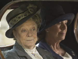 Maggie Smith as Dowager Countess, Violet and Penelope Wilton as Isobel Crawley in Downton Abbey Christmas Special