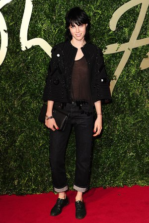 Edie Campbell arriving for the 2013 British Fashion Awards, at The London Coliseum, St Martin's Lane, London.