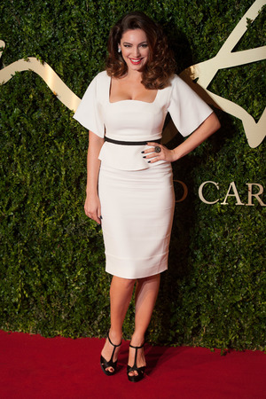 Kelly Brook arriving for the 2013 British Fashion Awards, at The London Coliseum, St Martin's Lane, London.