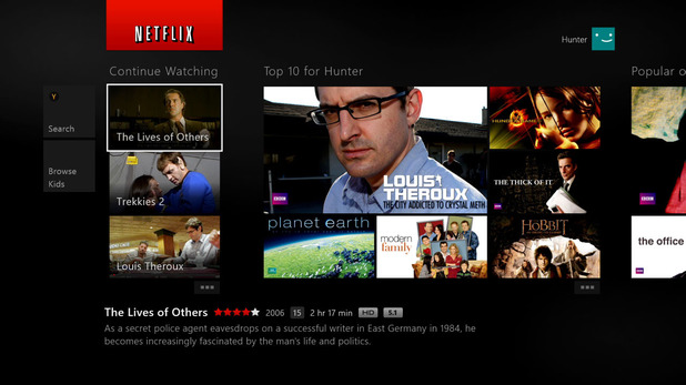 Netflix app for Xbox One