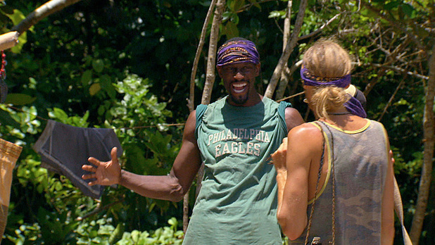 Gervase and Tyson during the twelfth episode of Survivor Blood vs Water: 'Rustle Feathers'