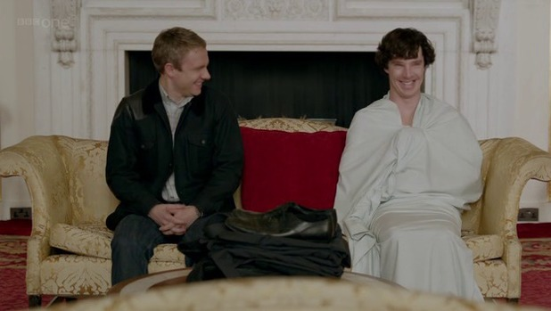 John and Sherlock in 'A Scandal in Belgravia'