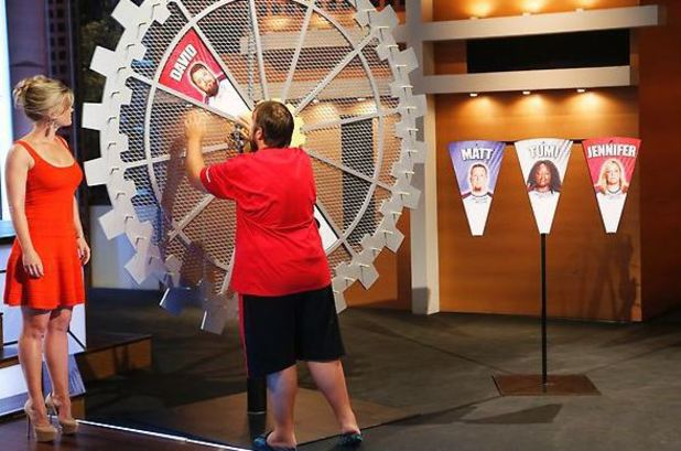 The Take a Trainer Home game during episode 8 of The Biggest Loser