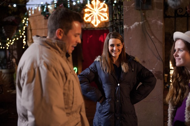 Ashley Taylor Dawson, Anna Passey and Susan Loughnane behind the scenes at Hollyoaks