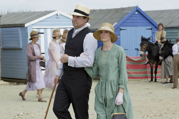 Brendan Coyle as Mr Bates and Joanne Froggatt as Anna Bates in Downton Abbey Christmas Special