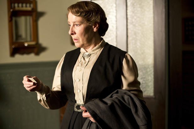 Phyllis Logan as Mrs Hughes in Downton Abbey Christmas Special