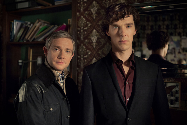 Benedict Cumberbatch and Martin Freeman in Sherlock Series 3