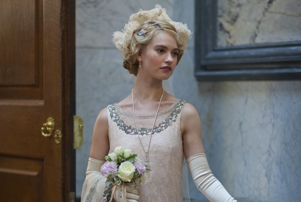 Lily James as Rose in Downton Abbey Christmas Special