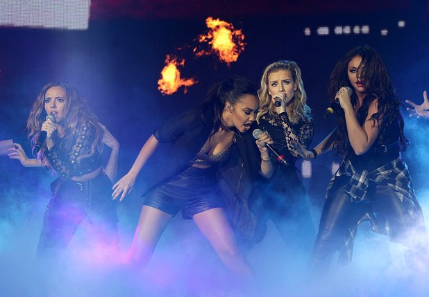 Little Mix performing on stage during the 2013 Capital FM Jingle Bell Ball