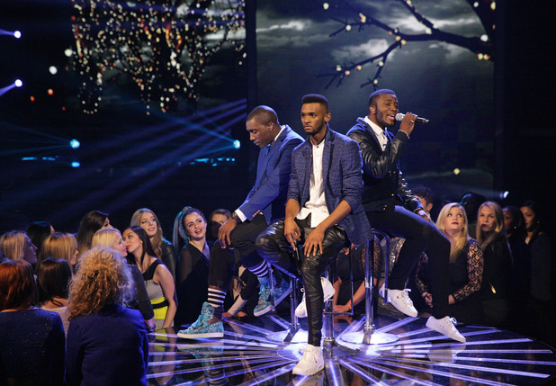 Rough Copy perform for the X Factor semi-finals