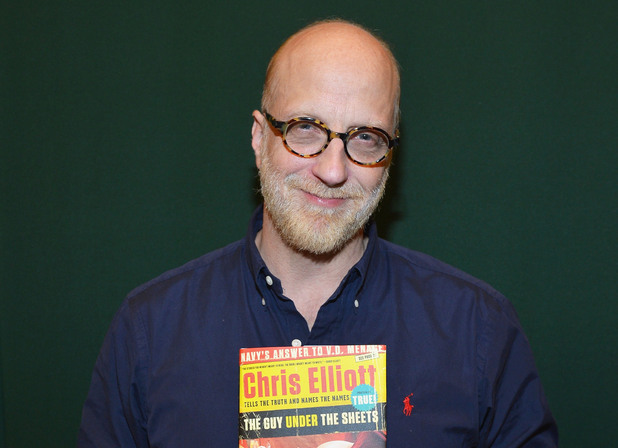 Chris Elliott promotes 'Guy Under the Sheets: An Unauthorized Autobiography' at Barnes & Noble