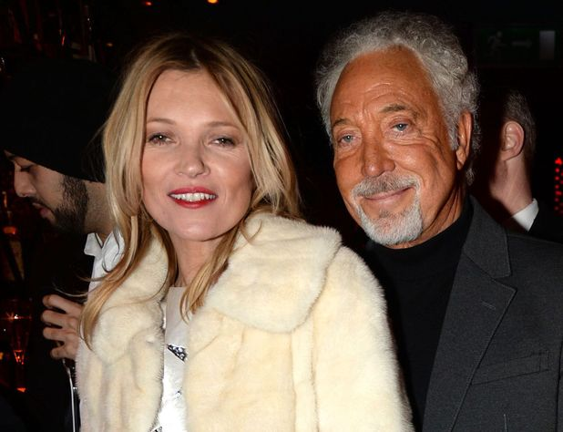 Playboy 60th anniversary party at the Playboy Club, London, Britain - 02 Dec 2013 Kate Moss and Tom Jones