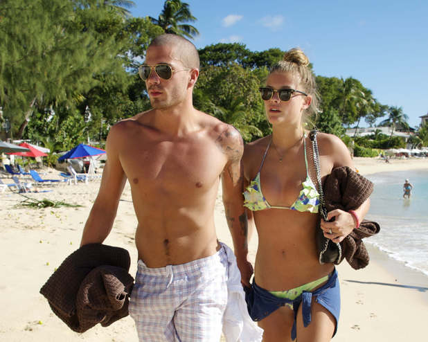 Max George and Nina Agdal out and about, Barbados - 29 Nov 2013 Max George and Nina Agdal 29 Nov 2013