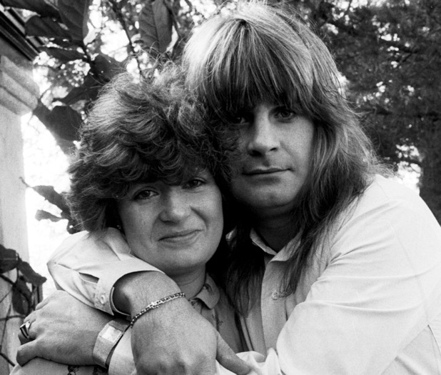 Rock musician Ozzy Osbourne embraces his fiancee, Sharon Arden, in Los Angeles, Ca., in Dec. 21, 1981. (AP Photo/Douglas Pizac)