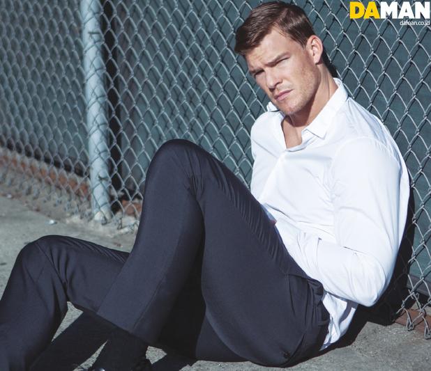 Alan Ritchson poses for DA MAN
