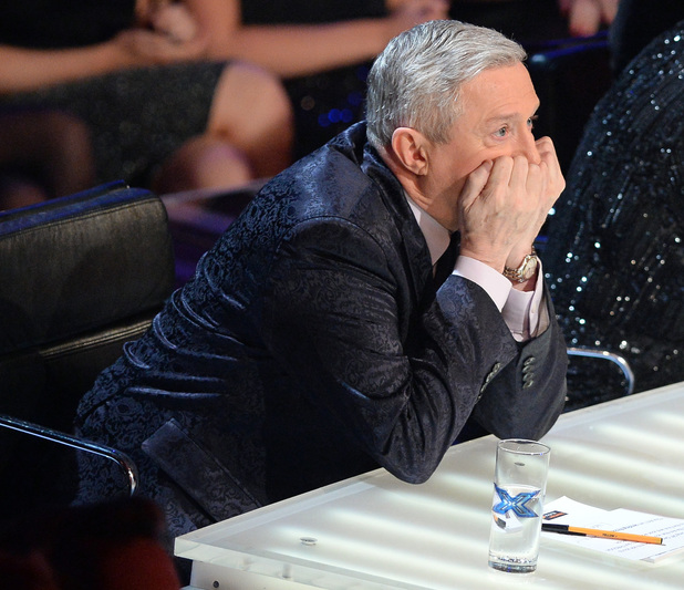 Louis Walsh looks on as the finalists are named for The X Factor