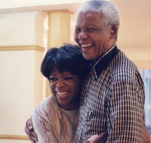 Oprah Winfrey with Nelson Mandela (2000)