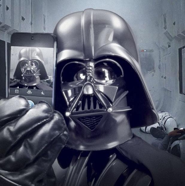 Darth Vader 'selfie' on Instagram
