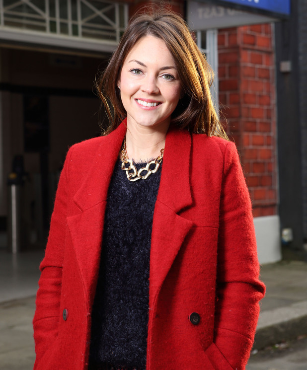 Lacey Turner on set at EastEnders